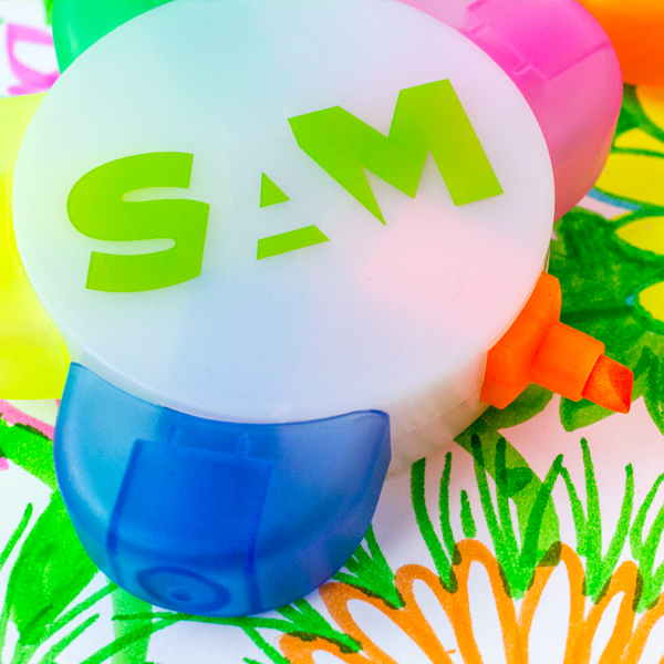 SAM Shop Highlighter Give-away