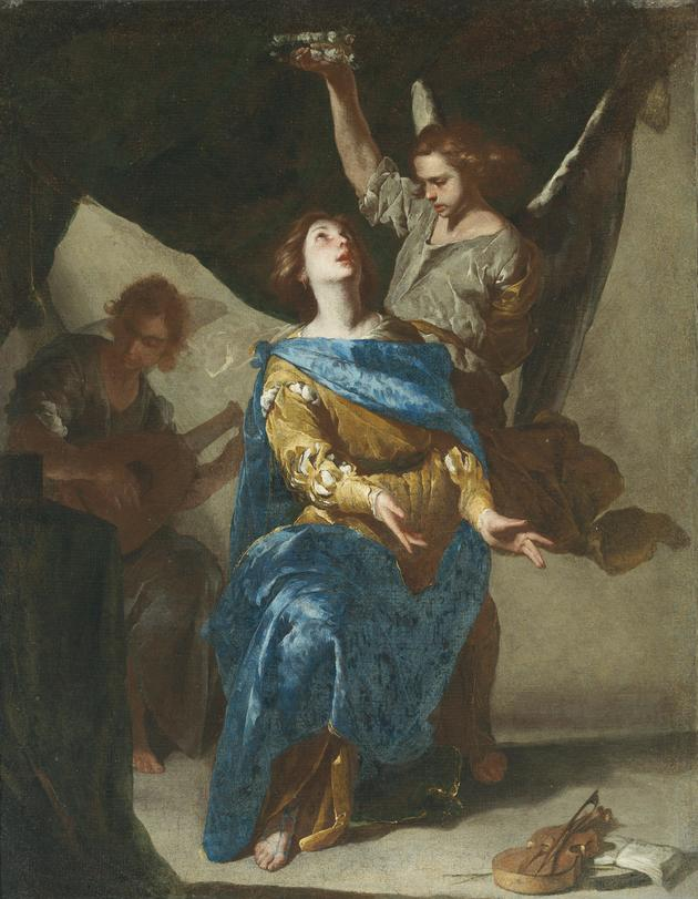 Painting of The Ecstasy of Saint Cecilia