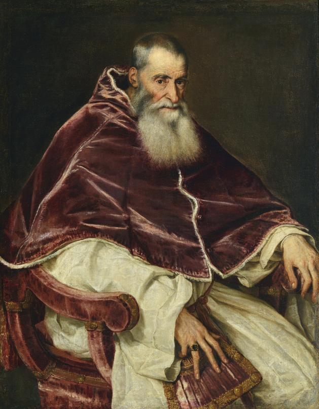 Image of painting by Titian of Pope Paul the third