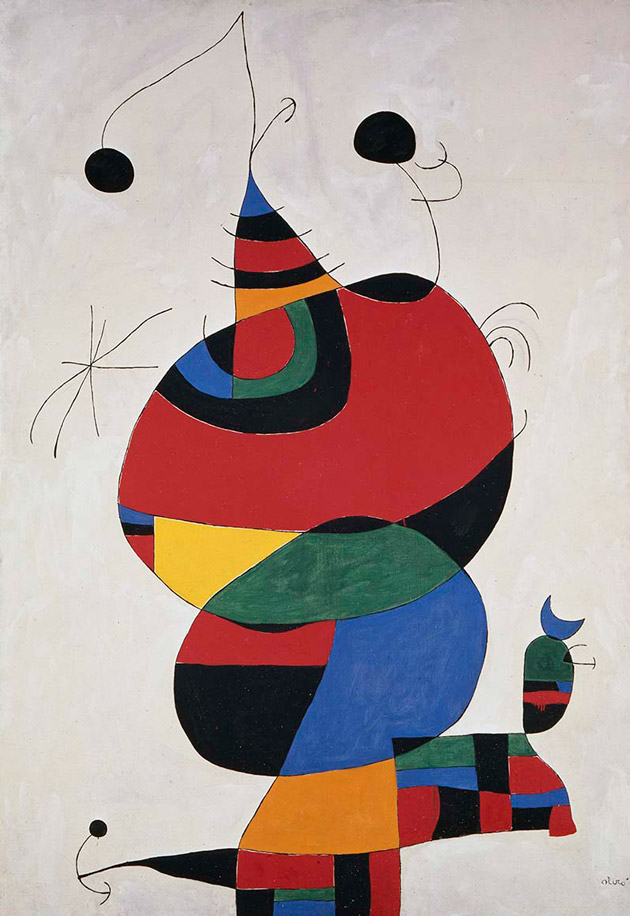 Woman, Bird and Star (Homage To Picasso)