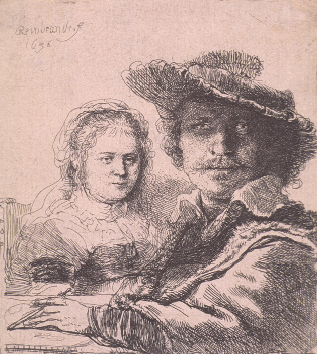 Self-portrait with Saskia by Rembrandt van Rijn