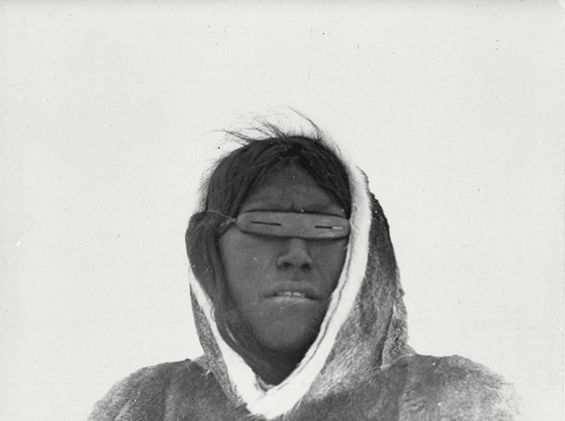 Inuit Man with Snow Goggles
