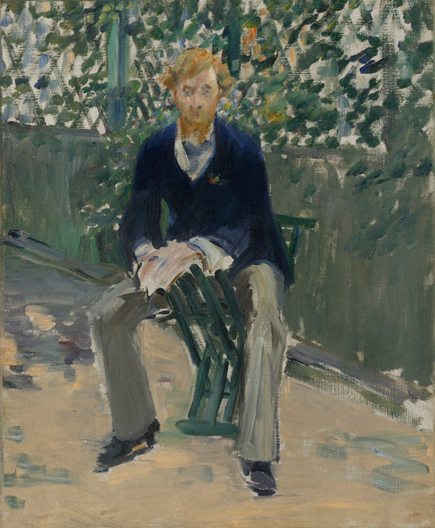 George Moor in the Artist's Garden by Manet