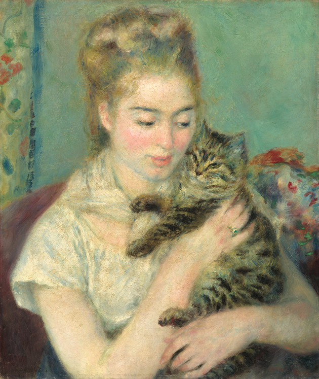 Woman with a Cat by Renoir