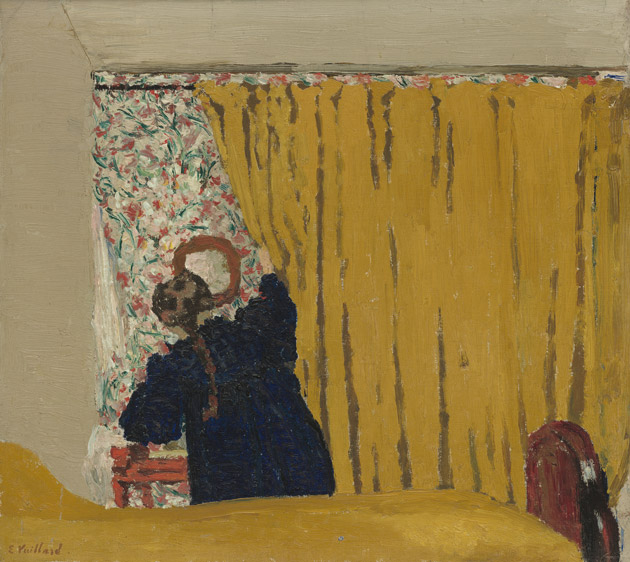 The Yellow Curtain by Vuillard