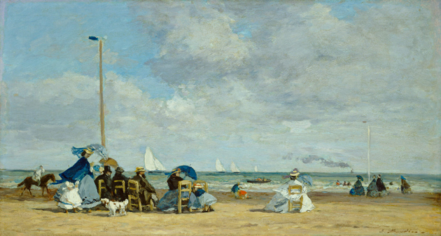 Beach Scene at Trouville by Boudin