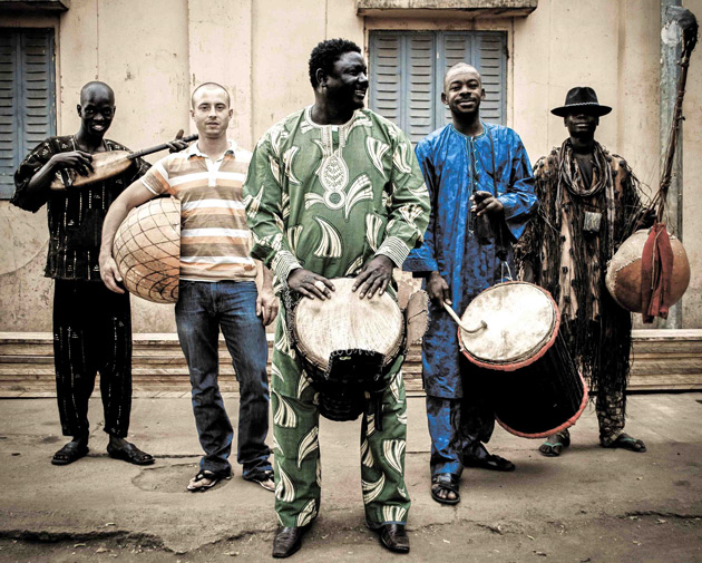 photo of the BKO Quintent: five west african men with their native instruments