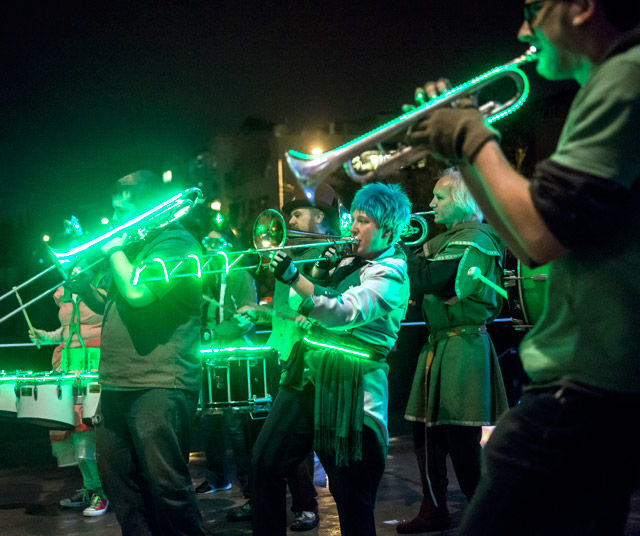 Join the outdoor procession band